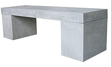 Gartenbank modern beton  Amazon.de: Beton Sitzbank 160x40x45 cm Massiv Leichtbeton Gartenbank ...