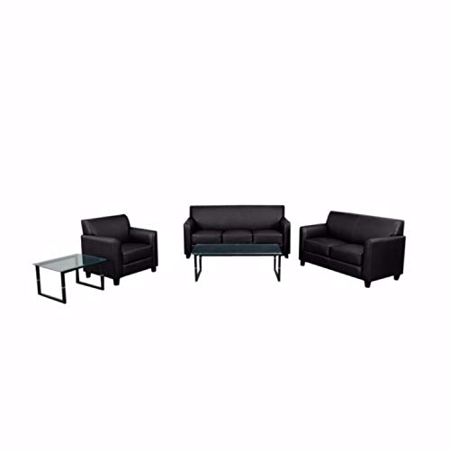 Offex OFX-107496-FF Contemporary Reception Seating Set in Black -