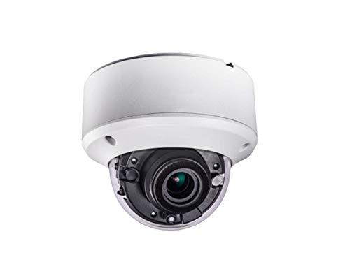 Monoprice 5MP Vandal Dome HD-Tvi Security Camera, Motorized Varifocal 2.8-12mm, 2 Matrix IR Up to 131ft Range, Ip67, Ik10