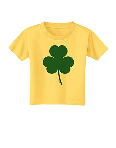- TooLoud Traditional Irish Shamrock Toddler T-Shirt - Yellow - 3T