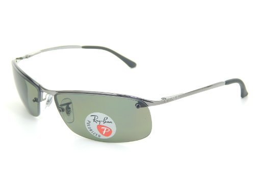 New Ray Ban Top Bar RB3183 004/9A Gunmetal/ Polar Green 63mm - Ray Top Gun Sunglasses Ban