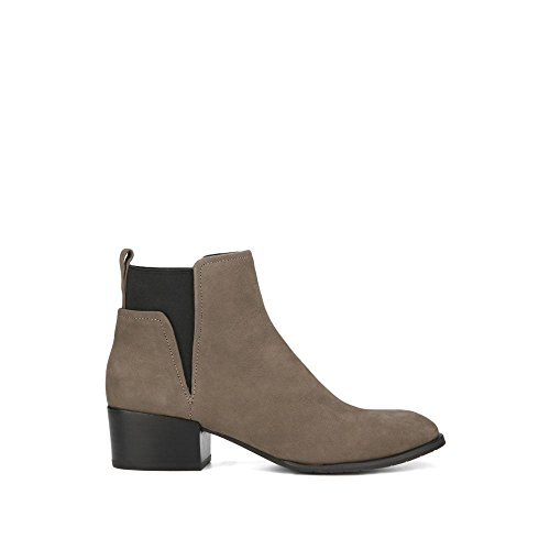 Kenneth Cole New York Women's Artie Pull Low Heel Nubuck Ankle Bootie, Cement, 7.5 M (Kenneth Cole New York Pull)