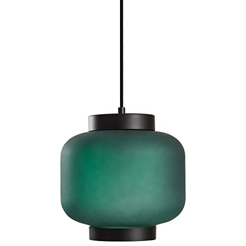 (Rivet Mid-Century Outer Frosted Glass Finish Pendant Light with Bulb, 60
