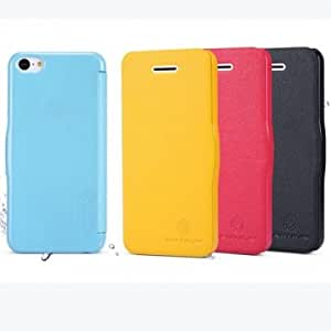 Fashionable Color Flip Folio PU Leather Case Cover For iPhone 5C --- Color:Blue
