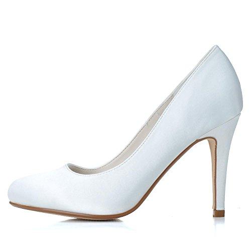 L@YC Frauen Hochzeitsschuhe Seide Hochzeit HG-5623-01 & abend High Heels Party Satin Schnalle / Gehoben Blue
