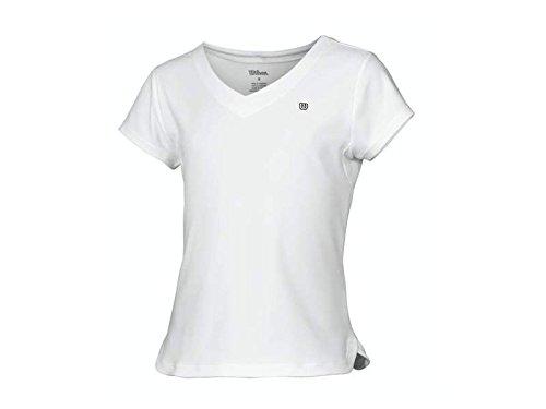 Wilson Children 's Kinder Tennis-Shirt, 459 XS weiß