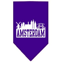 Amsterdam Skyline Screen Print Bandana Purple Large by uhsupply.com