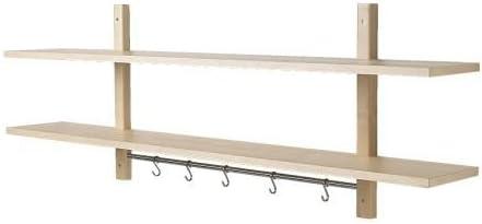 Ikea VÄRDE - Estante de pared con 5 ganchos (madera de abedul ...