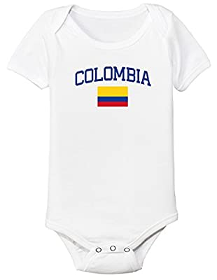 nobrand Colombia Bodysuit Soccer Infant Baby Girls Boys Personalized Customized Name and Number