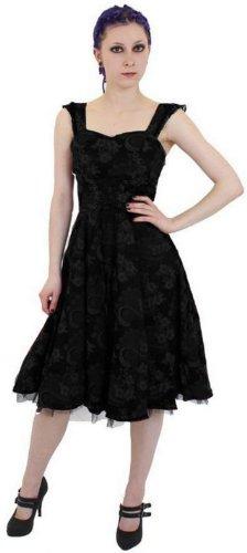 Altissimo Women's Floral Brocade Tailored Dress Black on Black 12
