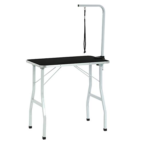 "BestPet Dog Grooming Table Adjustable Heavy Duty Pet Cat Grooming Table with Arm/Noose (32"")"