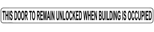 ComplianceSigns Vinyl Exit Gates or Doors Label, 24 x 2 in. with English, - Illinois In Outlet Stores