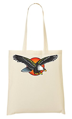 Tattoo Colors School Shutup Eagle Shopping Vintage Bag Wings Collection Old Handbag qr0IXIBxw