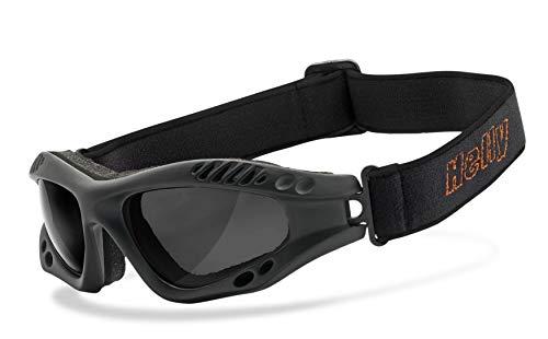 HELLY® – No.1 Bikereyes® | Motorradbrille, Bikerbrille, getönt | winddicht, gepolstert, beschlagfrei, HLT…