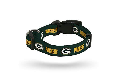 Rico Industries Green Bay Packers SMALL Adjustable Dog Pet Nylon Collar 9-14 -