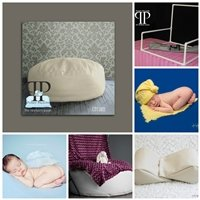 STARTER SET #18 ~ Travel size Posey Pillow, Squishy poser,& Small size pvc backdrop stand ~ NEWBORN PHOTO PROP by Posey Pillow