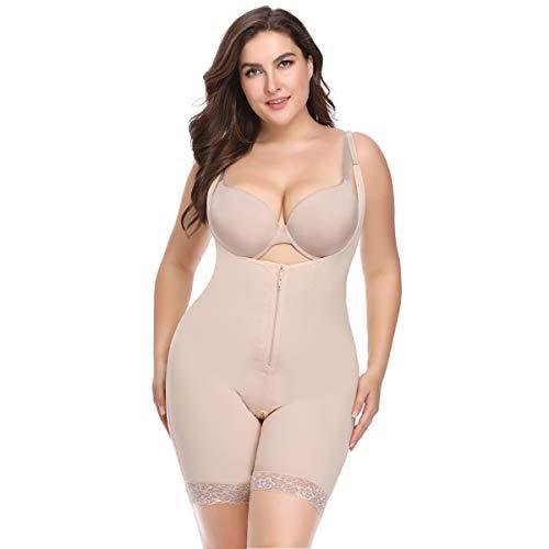 Topmelon Firm Control Spandex Bodysuit Shapewear Plus Size Seamless Full Body Shaper Butt Lifter