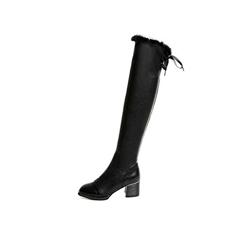 Eu Knee Eleganti Ms Long Stringate 36 Sed Canister The Boots nero 35 Over Con Pu Scarpe Eu wTnnxpqa