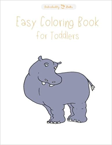 Easy coloring books for toddlers: Animals
