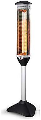テラスヒーター立て、屋外遠赤外線ヒーター、360度防水のバスルームヒーター、2700Wの高出力、3本のハロゲンチューブ、高さ153cm,のワンボタンスイッチ
