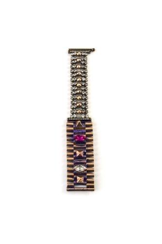 Iosselliani Bracelet Laiton Cristal Femme