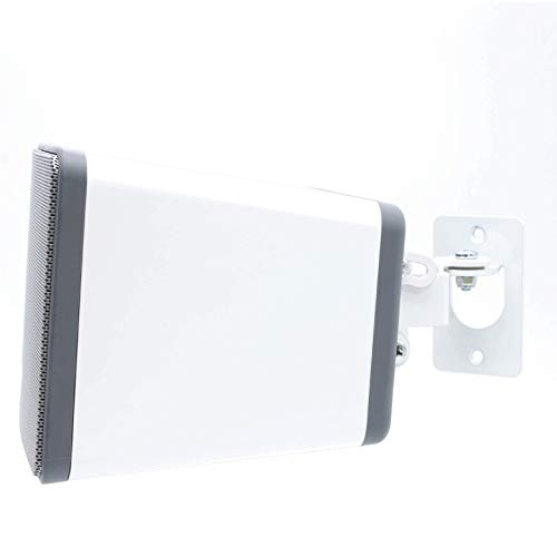SONOS PLAY 3 Wall Mount, Adjustable Swivel & Tilt Mechanism, Single Bracket For Play:3 Speaker with Mounting Accessories, White, Designed In the UK by Soundbass (Accessories Bracket Mounting Speakers)