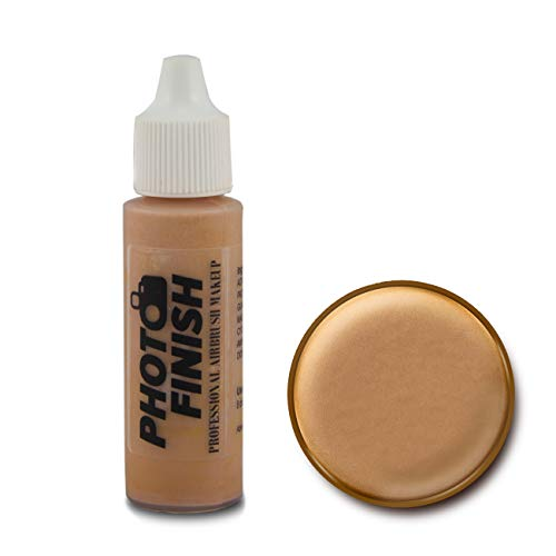 Photo Finish Professional Airbrush Makeup Foundation, airbrush makeup, water and sweat resistant, long-wearing, works with airbrush makeup kits (.5 fl oz, Medium Tan Matte)