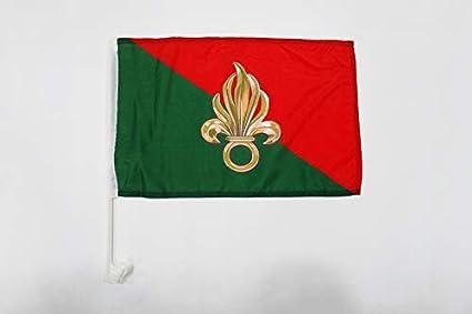AZ FLAG Bandera de Coche de la LEGIÓN EXTRANJERA Francesa 45x30cm - BANDERINA para Auto EJÉRCITO FRANCÉS 30 x 45 cm: Amazon.es: Jardín