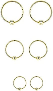 Unisex Huggie Hoop Earring Zircon Ear Stud Colorful CZ Earrings Nose Ring