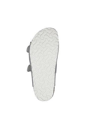 Tamaris 27501-952 - Zuecos de Material Sintético para mujer plateado plata White Patent