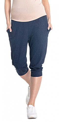 Denim Maternity Crop Pants - 9