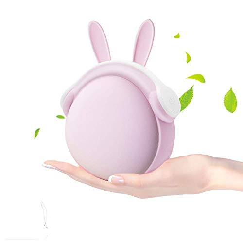 Rechargeable Hand Warmer 6000mAh Portable Power Bank 2-in-1, Reusable Double-Sided USB Electric Pocket Warmer, 10s Fast Heating Long Lasting Safe-Up to 5 Hours of Heat, Gift Packing (Pink Rabbit)