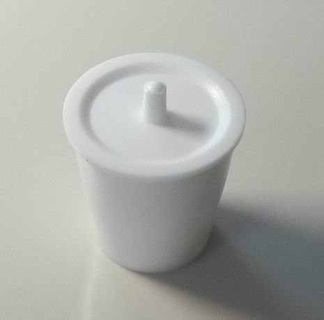 50 Ml Ptfe Teflon Beaker, Crucible, Cup, with Cover Lid, for Chemistry & Biology lab ()