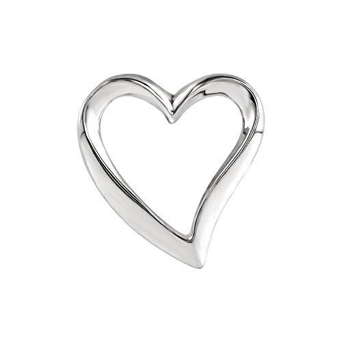 Gold Cameo Slide Bracelet (C.Hersh Women's .925 Sterling Silver Heart Chain Slide Tumbled Finish)