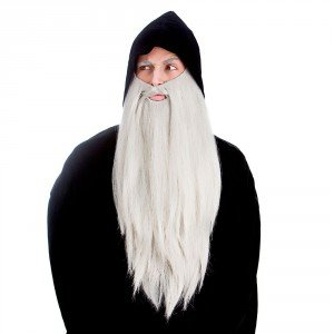 Wicked Deluxe Long Beard Wizard/ Gnome Fancy Dress Accessory-Grey for $<!--$10.86-->