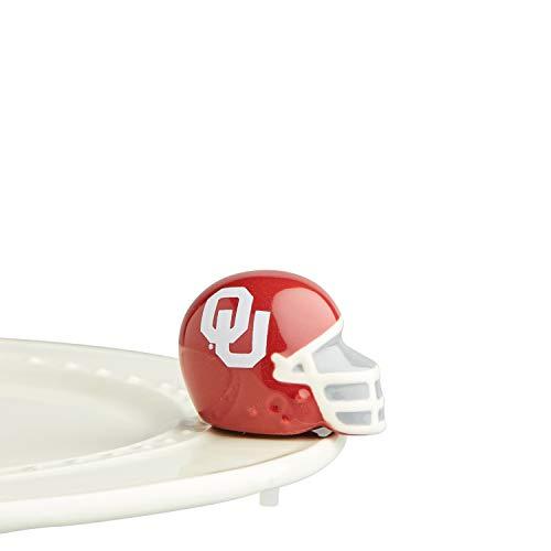 Nora Fleming Hand-Painted Mini: Oklahoma U Helmet (Oklahoma University Football Helmet) A312