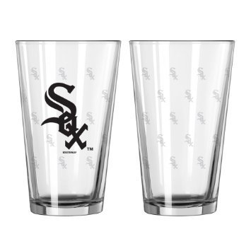 - Chicago White Sox Satin Etch Pint Glass Set