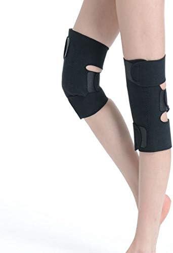 LilyAngel 暖かい膝パッド 寒さ保護膝パッド トルマリン自己発熱膝パッド (Color : ブラック)