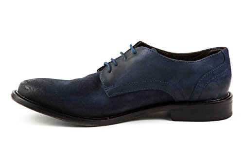 Base London - Zapatos de cordones de Piel para hombre 42 Azul