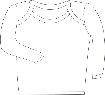 Baby Jay Cotton Undershirt T-Shirt, Long Sleeve Lap Shoulder - WTLE 18-24 5-Pack by Baby Jay (Image #3)