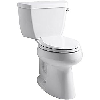 Kohler 3658 Ra 0 White Elongated Comfort Height Two Piece