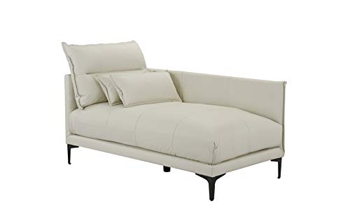 Mid Century Modern Living Room Leather Chaise Lounge ()