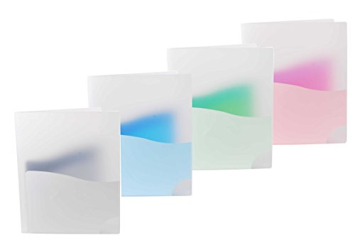 Filexec Products Wave, 3 Pocket Folder, Pack of 4 (50485-3138)