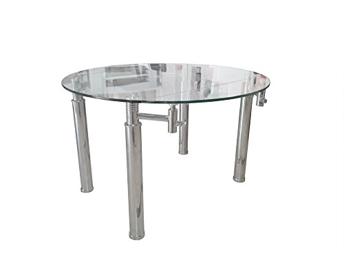 Mesa de comedor de cristal templado rectangular extensible a ...