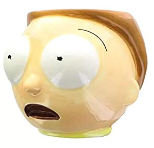 3D Cartoon Morty Shape Ceramic Mug Cup Casual Coffee Milk Tea Water Mugs Daily Use Cups Drinkware Funny Christmas Gift