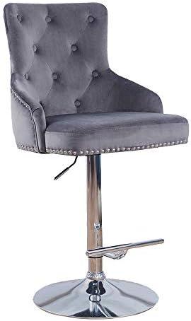 DMF Furniture Velvet Bar Stools Chair