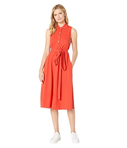 Lacoste Women's S/L Belted Pique Polo Dress, SALVIA ()