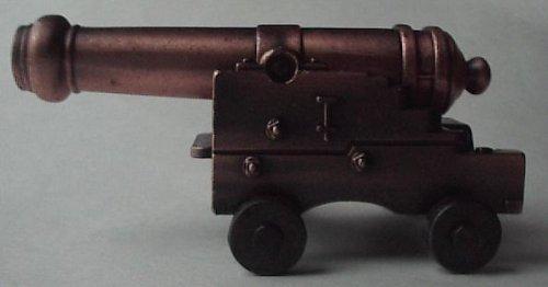 Miniature Naval Cannon w/ Brass Barrel