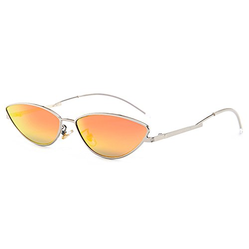 Silver UV400 Fashion Cateye Holiday Frame for Women Street orange Protection Sun Lens Men Shopping Sunglasses Glasses Red Personality Traveling ApFHpq
