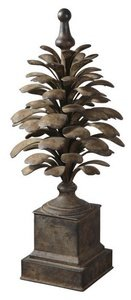 Uttermost 19080 Suzuha - Decorative Finial, Antique Aged Ivory Finish by Uttermost